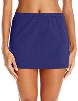 Maxine Of Hollywood Women's Solid Separate Bottom Skirted Bikini Bottom