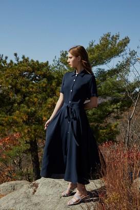 Mansur Gavriel Silk Shirt Dress - Blu