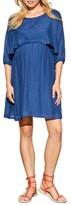 Maternal America Women's Ruffle Overlay Maternity/nursing Dress