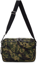 Alexander Mcqueen Green Camo Messenger Bag