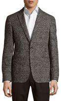 HUGO BOSS Weave Pattern Notch-Lapel Jacket