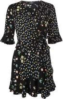 Topshop PETITE Floral Print Tea Dress