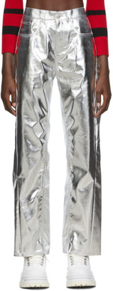 pushBUTTON Silver Corseted Back Straight Trousers