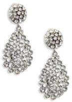 Oscar de la Renta Classic Crystal Teardrop Clip-On Earrings