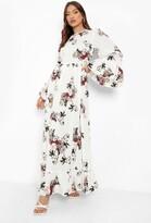 boohoo Ruffle Hem and Sleeve Maxi Dress