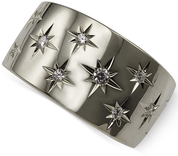 Marchesa Diamond Star Band (1/6 ct. t.w.) in 18k White or Yellow Gold, Created for Macy's