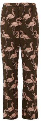 F.R.S For Restless Sleepers F.R.S – For Restless Sleepers Flamingo Fil-coupe Straight-leg Trousers - Womens - Pink Multi