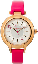 Ted Baker Pink Patent Leather Strap Watch With Rose Gold Case