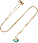 Ileana Makri 18-karat Gold, Opal And Turquoise Necklace - one size