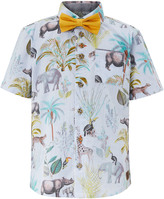 Monsoon Erwin Jungle Print Shirt & Bow Tie
