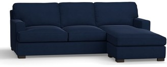 Pottery Barn Townsend Square Arm Upholstered Sofa with Reversible Storage Chaise Sectional