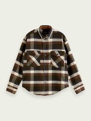 Scotch & Soda Brushed cotton flannel shirt | Men