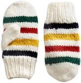 HBC Stripes Hand Knit Wool Mittens