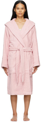 Tekla Pink Hooded Bathrobe