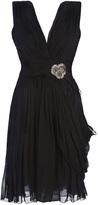 Matthew Williamson Pleated corsage dress