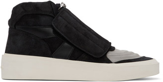 Fear Of God Black and Grey Skate Mid Sneakers