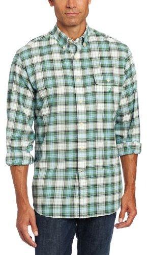 Nautica Men's Poplin Plaid Shirt
