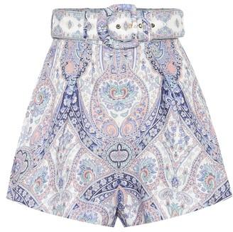 Zimmermann Exclusive to Mytheresa a Paisley linen shorts