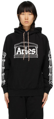 Aries Black Temple Logo Hoodie