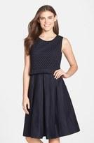 Eliza J Mixed Media Popover Dress