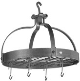 Enclume Dutch Crown Ceiling Pot Rack, Hammered Steel