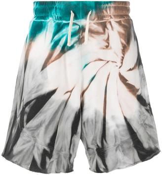 Paura Tie-Dye Print Track Shorts