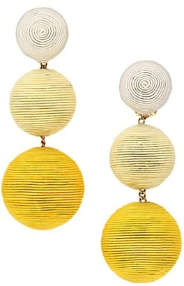 Rebecca De Ravenel 2-Piece Classic Three Ball Silk Drop Earrings