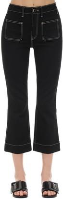KHAITE Cropped Raquel Patch Cotton Denim Jeans
