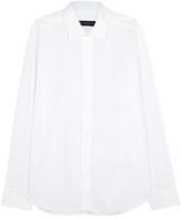 Corneliani White Cotton Tuxedo Shirt