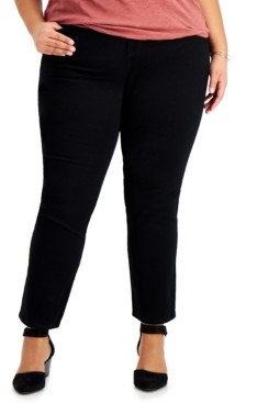 Style&Co. Style & Co Plus Size Tummy Control Straight-Leg Jeans, Created for Macy's