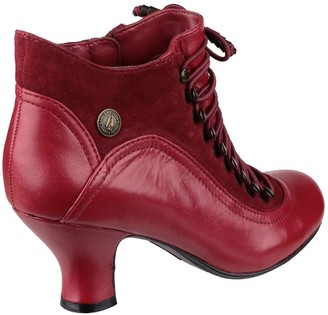 Hush Puppies Vivianna Ankle Boots - Red