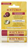 Burt's Bees 100 Percent Natural Lip Balm, Coconut/Pear and Pomegranate 4.25 g - Pack of 2