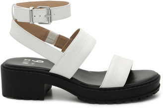 Mix No. 6 Women's Petrova Platform Sandals White Size 5 Faux Leather From Sole Society