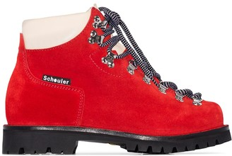 Proenza Schouler Lace-Up Hiking Ankle Boots