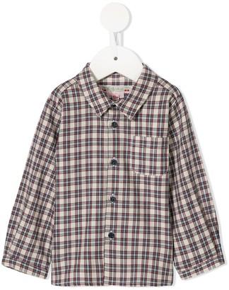 Bonpoint long-sleeved plaid shirt