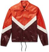 Valentino Chevron Leather Jacket