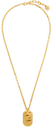 Versace Gold Greca Dogtag Necklace