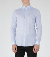 Reiss Reiss Shelvey - Dotted Shirt In Blue