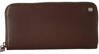 Victorinox Altius Edge Turing Zippered Deluxe Clutch Wallet w/ RFID (Dark Earth Leather) Bi-fold Wallet
