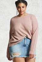 Forever 21 FOREVER 21+ Plus Size Brushed Knit Sweater