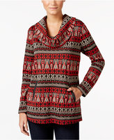 Style&Co. Style & Co Jacquard Cowl-Neck Top, Only at Macy's