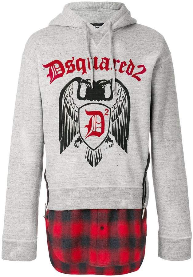DSQUARED2 layered hoodie