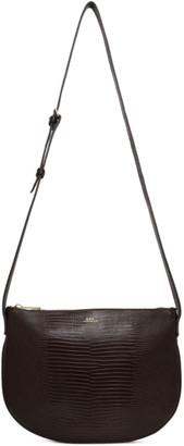A.P.C. Brown Lizard-Embossed Maelys Bag