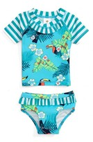 Tucker Infant Girl's + Tate Two-Piece Rashguard Swimsuit