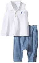 Ralph Lauren Chambray Smocked Pants Set Girl's Active Sets
