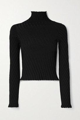 Balenciaga Ribbed-knit Turtleneck Sweater - Black