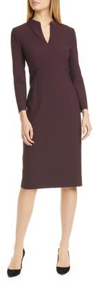 BOSS Debara Power Crepe Long Sleeve Dress