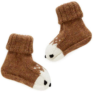Oeuf Nyc Oeuf NYC Bambi Animal Booties - 0-6 Months