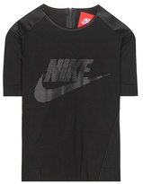 Nike Perforated Graphic Cotton-blend T-shirt