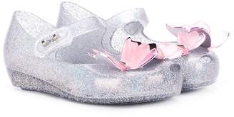 Mini Melissa Applique Butterfly Ballerina Pumps